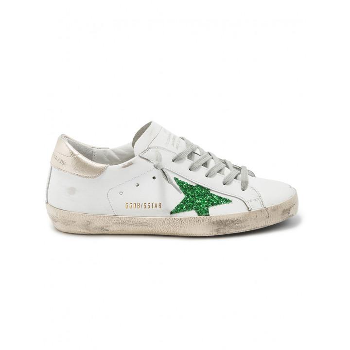 Кеды Golden Goose  'Superstar' green star