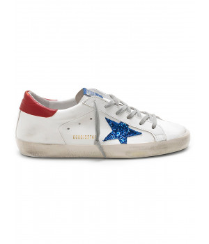 Кеды Golden Goose  'Superstar' blue glitter star