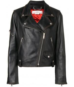 Кожаная куртка Golden Goose черная