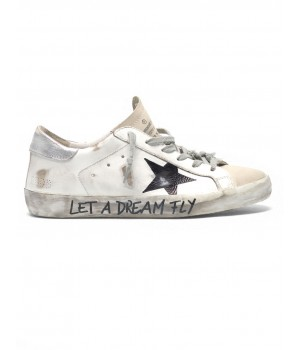 """Кеды Golden Goose  'Superstar' in leather with """"Let a dream fly"""" lettering"""