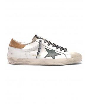 Кеды Golden Goose  'Superstar' with lizard-print heel tab
