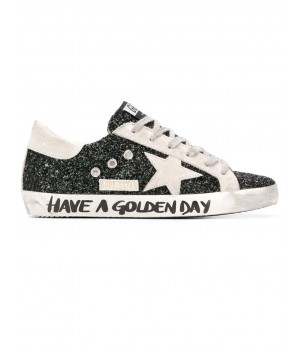 Кеды Golden Goose  'Superstar' flag black glitter